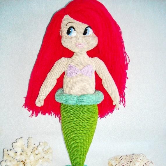 Amigurumi Little Mermaid : amigurumi Ariel mermaid crochet mermaid little stuffed