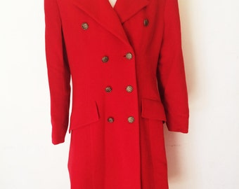 35% DE RABAIS***Original Valentino long wool Coat - 80's