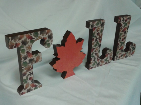 fall standing wooden letters fall decor shelf sitter. Black Bedroom Furniture Sets. Home Design Ideas