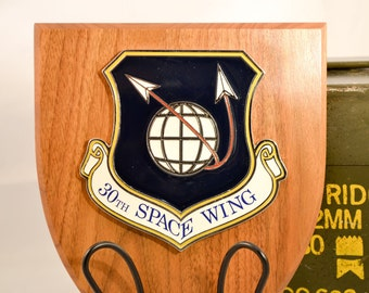 30th Space Wing Plaque - USAF Militaria - Air Force Collectible - USA Collectible