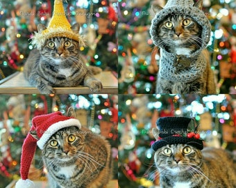 Nurdi Babi Cat Hats Vol. 2 Deck Your Cat for Christmas Cat Hat Crochet Patterns Pet Hat with Permission to Sell
