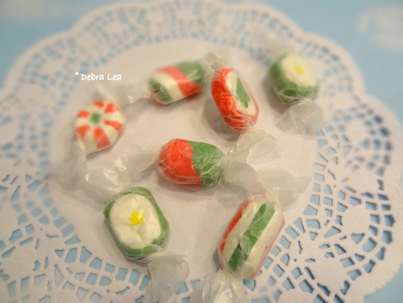 Fake Candy Faux Candies Fancy Holiday Christmas Salt Water Taffy Wrapped Kitchen Bowl Fillers Display Food Prop Decor
