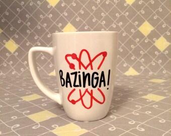Bazinga Mug. Big Bang Theory Mug. Sheldon Cooper Mug.