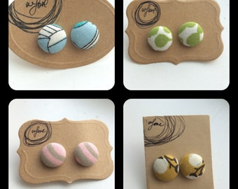 Closeout Sale on Button Earrings