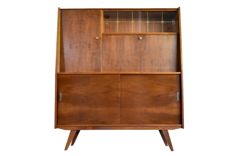 on sale mid century danish modern wall unit vintage. Black Bedroom Furniture Sets. Home Design Ideas