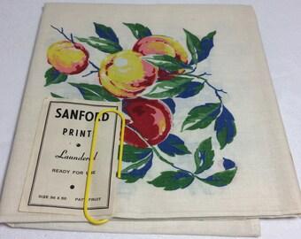 Vintage NOS Sanford Fruit Tablecloth in Original Donaldson's Holiday Box