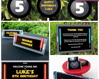 Star Wars Invitation & Party Decorations - Star Wars Party - Star Wars Birthday - Instant Download - EDIT and print using Adobe Reader