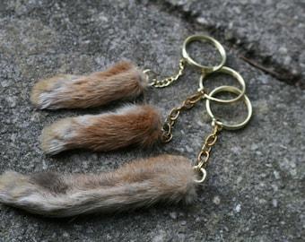 GOLD Lucky Rabbit Foot Keychain