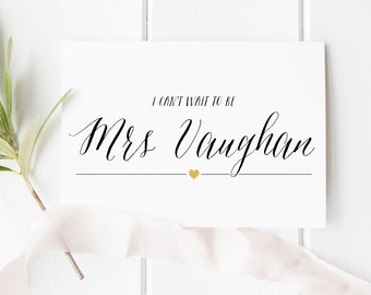 I cant wait to be your wife - personalized wedding card to groom - wedding card to groom - groom to bride - love note - card to groom