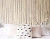 the ABIGALE | large macrame wall hanging | macrame curtain | wedding | photography backdrop | statement piece | bohemian decor