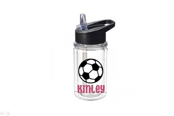 personalized soccer water bottle 10 oz tritan by