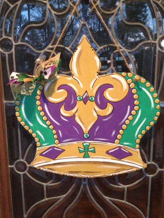 Mardi Gras Crown Door Hanger Door Wreath New By