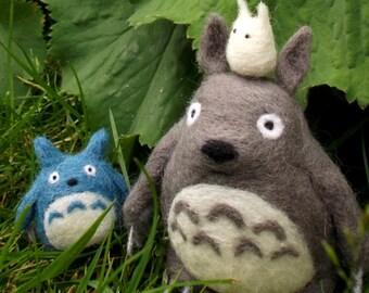 Needle Felted Totoro Fan Art Figures – Big, medium and small