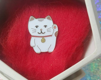 Maneki Neko, Lucky Cat Enamel Lapel Pin