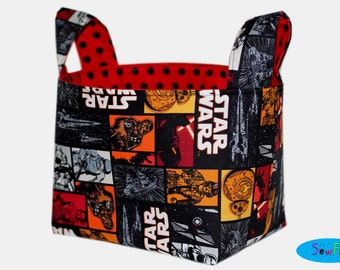 Bedroom Storage Bin | Fabric Basket | Desk Organizer Bin | Storage Bin | Star Wars Basket