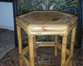 Vintage Bambo Plant Stand AccentTable