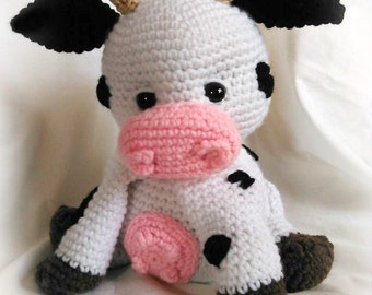 Sweet Cream the Cow; CROCHET PATTERN; PDF