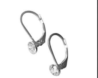 Sterling Silver Leverback Cremation earrings