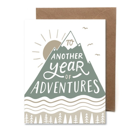 Another Year Of Adventures // Letterpress Card // Birthday
