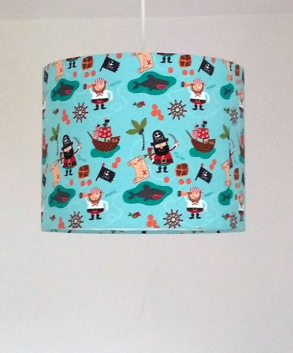 pirate nursery lampshade nautical nursery decor boy baby. Black Bedroom Furniture Sets. Home Design Ideas