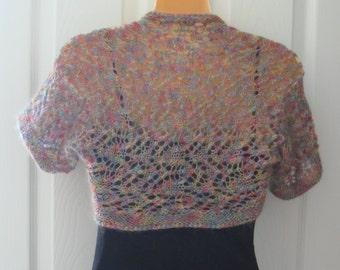Lace Zigzag knit shrug