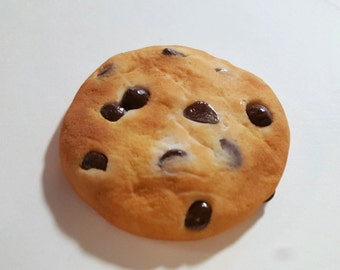 Chocolate Chip Cookie Magnet, Polymer Clay Food Decor