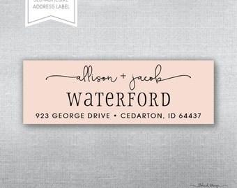 Custom address label. Return address label. Self-adhesive address label. Address sticker.