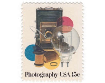 10 Unused Vintage Postage Stamps - 1978 15c Photography - Item No. 1758