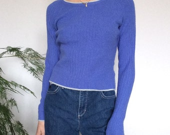 90s blue sweater / size xs/small