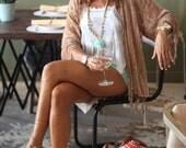 30 % RABATT | Seide Burnout Kimono Frauen Boho Kimono