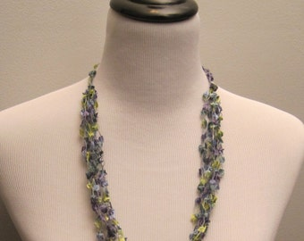 Pretty Variegated  Crochet Necklace