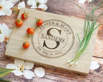 Personalized Cutting Board, Personalized Wooden Cutting Board, Personalized Wedding Gift, Custom Engraved, Oak Wood