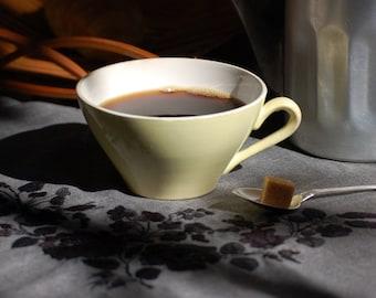 Tasse à café Digoin jaune French vintage cafe au lait  bowl ,bol cafe au lait, shabby chic