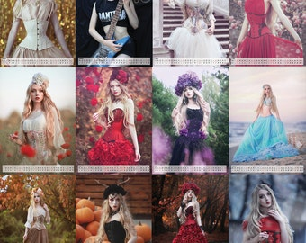 A3 Absentia Calendar for 2016 | Fantasy, gothic, corset photography