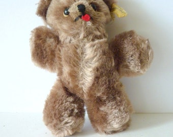 Vintage Genuine Mohair Tiny Teddy Bear by Character Like New Condition Cute and Lovable