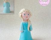 Elsa Fondant Cake Topper,...