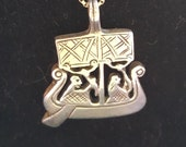 Egyptian Revival Pendant Sterling Silver Ancient Egyptian Canopy Boat
