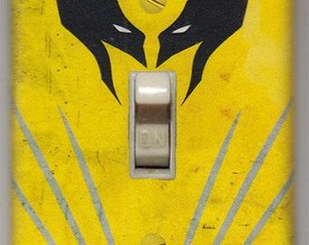 Minimalist Wolverine Light Switch Cover Plate - Marvel Comics X-Men