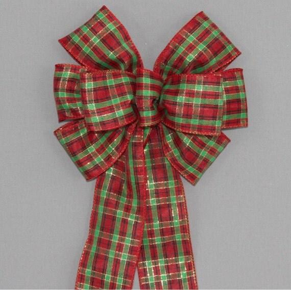 Items Similar To Red Green Tartan Plaid Christmas Bows