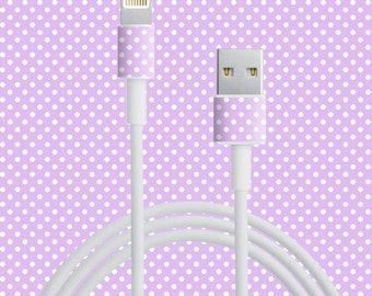 Patterned Cord Wraps for iPhone and iPad Chargers