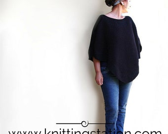 Indie Poncho. Cotton. Knitting Pattern. Digital Pdf File