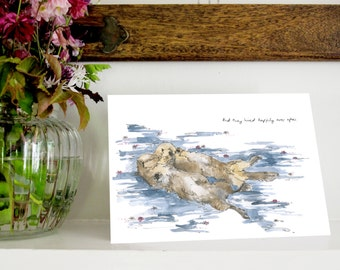 "Otter's ""Happily Ever After"" A5 Greetings Card"