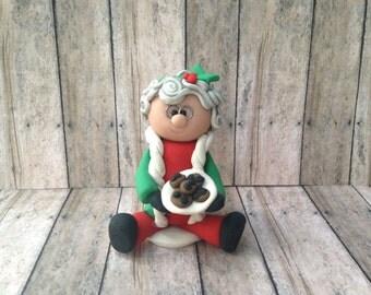 Mrs. Santa Clause Ornament, Mrs. Clause christmas ornament, Santa