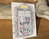 You Stole Me and I Stole You Doctor Who Tardis Painting