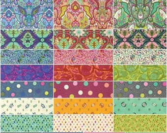 Slow & Steady by Tula Pink for Free Spirit ~ Fat Quarter / Half Yard Fabric BUNDLE ~ Complete or Choose Palette