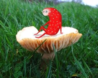 Toadstool Critter Mini Print