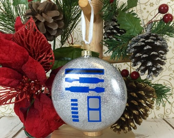 Star Wars Christmas Ornament - R2D2 Holiday Bauble - Blue Droid Christmas Decoration