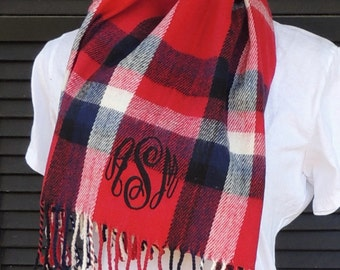 Monogrammed Cashmere Feel Oversized Scarf