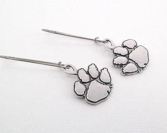 Clemson Paw Drop Earrings • Stainless Steel earrings •  hypo allergenic earrings • Gift for Clemson Fan