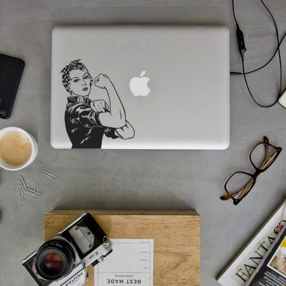 Rosie the Riveter Feminist Macbook Decal